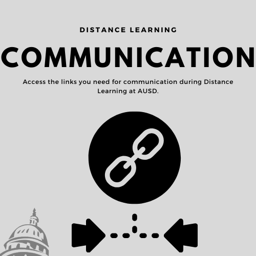communication during distance learning at AUSD